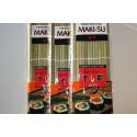 Podložka na výrobu sushi bambus 27x27cm / lepší než špejlová