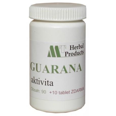 Guarana, 100 tablet / fyzická aktivita, deprese, průjmy