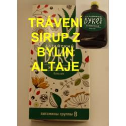 """Altajský bylinný sirup na zažívání / """"Buket"""" na trávení - extra účinky čistých bylin"""