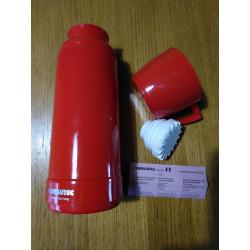 Skleněná termoska (bylinné čaje) 0,5 l / německá klasika, houževnatý plast, vozím na trhy
